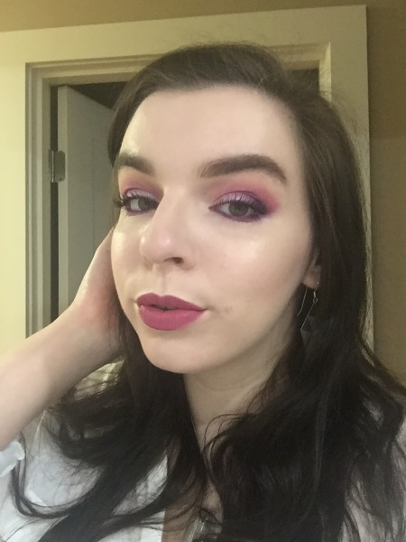 This look uses Blurr, Love Sick, Radioactive, and Dark Matter (as well as Poison Plum and Lumi, both from Sugarpill Cosmetics).